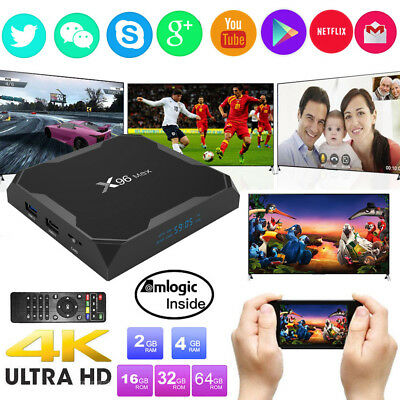 X96 Max 4GB+64GB Smart Amlogic S905X2 Quad Core TV Box Android 8.1 Dual WIFI 4K