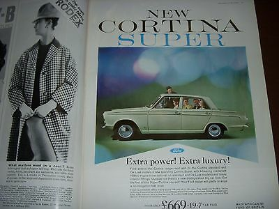 1963 Ford Cortina Super Advertisement From Tatler Magazine
