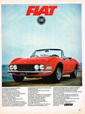 1968 Fiat Dino (French, 1pg.) Advertisement (AAD.524)