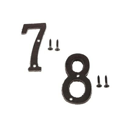 7 &8 Metal Wrought Iron House Address Number Digits for Home Door Sign Plate