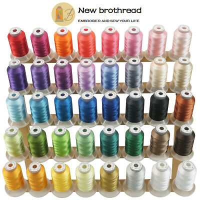 New brothread 40 Colours Polyester Sewing & Embroidery Machine Thread -500M Each