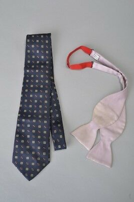 1980s' Turnbull & Asser Silk Bow Tie and Jim Thompson Silk Tie. Ref FUO