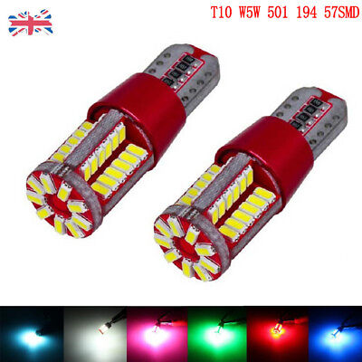 T10 W5W 501 Led Canbus 57 Smd Cree Bright Car Interior Side Light Bulbs