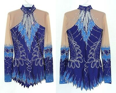 Rhythmic Gymnastics Leotard Acro/Ice skating dress Tap Costume Twirling Dance RG