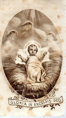 551 Gesù Bambino Gloria in Excelsis Deo santino holycard