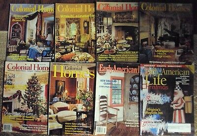 Mix Lot of 8 Colonial Homes & Early American Life Magazines, Nice Lot, L@@K