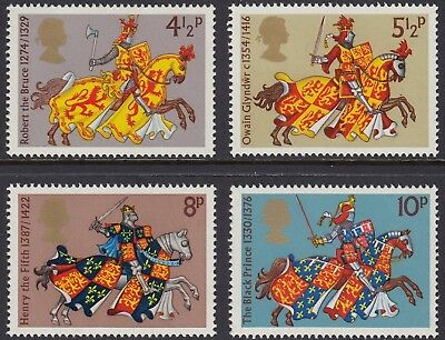 1974  Great Britons - Medieval Warriors Set  Sg 958-961  Mnh