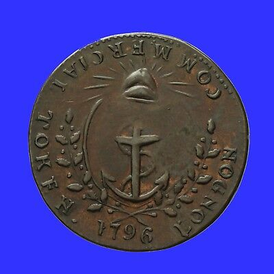 Middlesex Prattent's halfpenny token 1796  Cap of Liberty  D&H 459