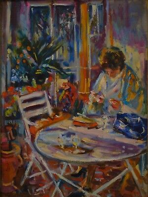 Signed French Impressionist Oil Painting on Canvas, Max-Michel Agostini, c. 1948