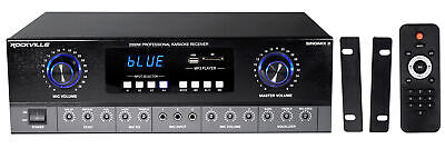 Rockville SingMix 2 Rack Mount 2000w Karaoke Amplifier/Mic Mixer+Bluetooth/Echo