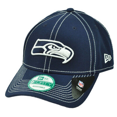 NFL New Era 9Forty Seattle Seahawks 4th Down Snapback Hat Cap Navy Adjustable