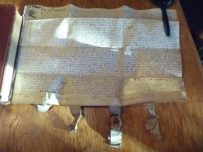 1622 James VI and I Vellum Indenture, Amwell, Hertfordshire