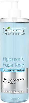 Bielenda Professional Hyaluronic Face Toner with Hydra-HYAL2 Technology, 500ml