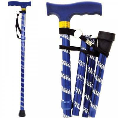Lightweight Folding & Extenable Walking Stick Cane Decorative Engraved Pattern
