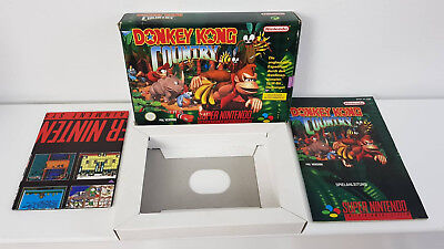 SNES Donkey Kong Country Leerverpackung + Inlay - OHNE SPIEL!!!!!!