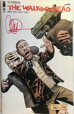 Image Comics The Walking Dead #186 Cover A Signed By Charlie Adlard