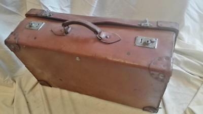 Well Travelled Vintage Leather Suitcase By Lawrence & Sons Charing Cross Rd, Wc2
