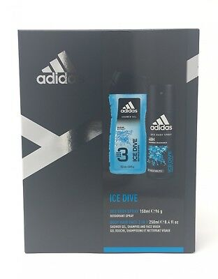 Adidas Ice Dive Deo Body Spray + Shower Gel 3 in 1