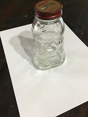 "Vintage ""Brother Can You Spare A Dime"" Glass Piggy Bank 1930's Hazel Atlas Jar"