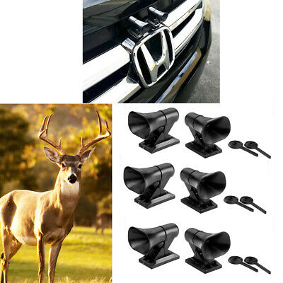 6X Deer Whistles Wildlife Warning Device Animal Sonic Alert Car Safety Accessory