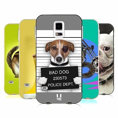 Head Case Designs Funny Animals Gold Bumper Slider Case For Samsung Phones