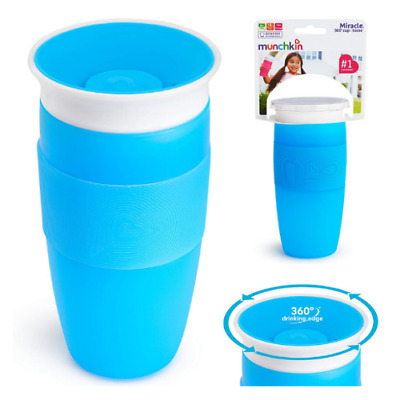 Miracle 360 Toddler Baby Spill Proof Blue 14 Ounce Child Sippy Kids Trainer Cup