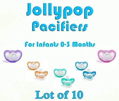 (10) JollyPop Pacifier 0-3 Month Pick Your Color &/or Scent Baby Soothie Gumdrop