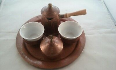 Vintage copper&Porcelain Coffee / Tea Set.