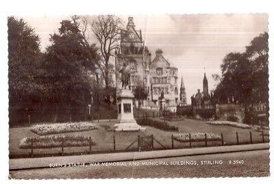 BURN'S STATUE, STIRLING used vintage postcard 1962 postmark by Valentine