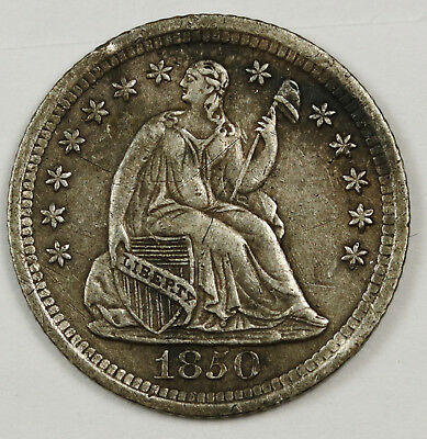 1850-o Liberty Seated Half Dime.  Natural Uncleaned.  X.F.  131257