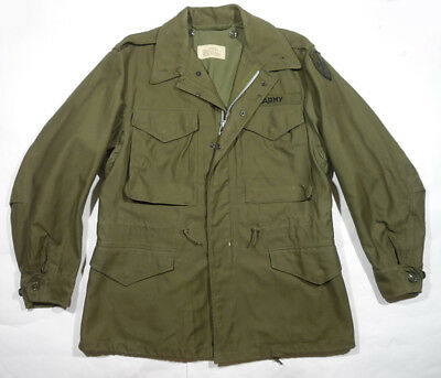 Vintage M-1951 US ARMY Field Jacket TASCOM patch Europe cold-war era SMALL SHORT