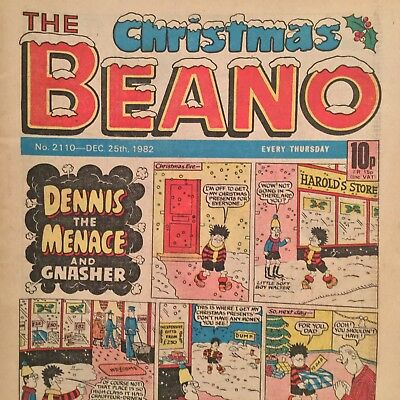 The Christmas Beano Comic Number 2110 December 25Th 1982 Dennis The Menace Etc