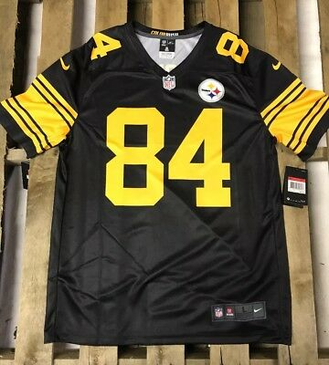 93dc6eab3 ... authentic antonio brown 84 pittsburgh steelers jersey color rush nfl  limited size l large 9e68b bc0f3 new zealand antonio brown 84 mens nike ...