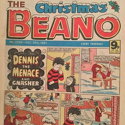The Christmas Beano Comic Number 2058 December 26Th 1982 Dennis The Menace Etc
