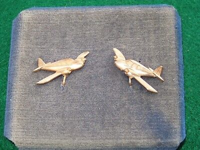WWII US Aircraft Plane Earrings Sweetheart Home Front Pair Lot