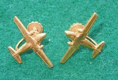 WWII US Aircraft Airplane Earrings Sweetheart Home Front Pair Lot Air Force