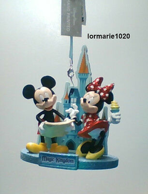 Disney Parks Magic Kingdom Ornament Mickey Mouse Minnie Mouse NEW with tags
