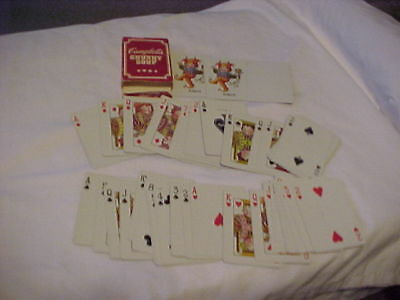 Vintage Campbell's Kids Chunky Soup Full Deck Of Playing Cards / Liberty ******