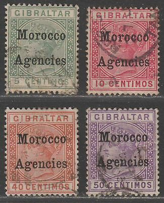 Morocco Agencies 1899 QV Overprint on Gibraltar Selection to 50c Used cat £60