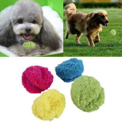 Magic Roller Ball Electric Automatic Dog Cat Pet Toy with 4 Fleece Ball Covers