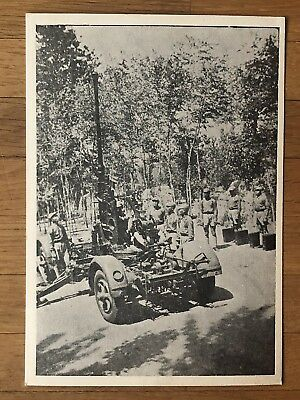 China Old Postcard Chinese Cannon Soldiers China Japan War Kuomintang !!