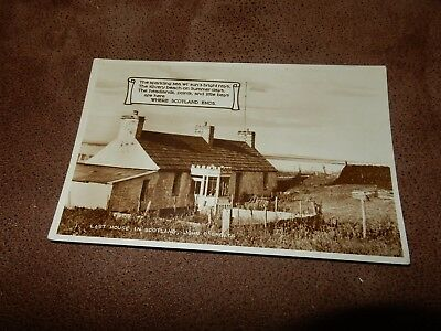 Real photographic postcard - Last house in Scotland - John O Groats Caithness