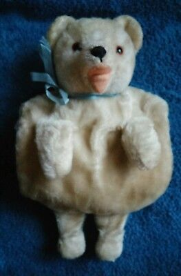 Antique Mohair Bear Child's Muff w/Felt Pads, Satin Lined 1900 -1920