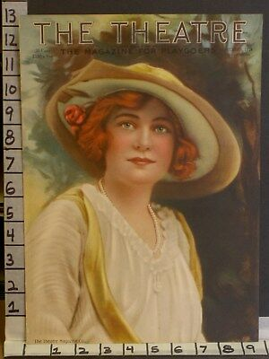 1914 Theater Actress Ann Murdock Stage Fashion Litho Cover Art Print Tca147