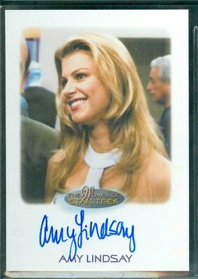 Women of Star Trek  50th Anniversary  Amy Lindsay as Lana   Auto Card