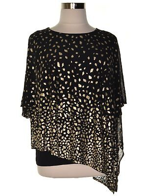 df904620246 JM Collection 1127 Plus Size 2X NEW Black Printed Blouse Top Layered Mesh   64