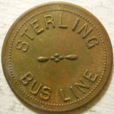 Sterling Bus Line (Litchfield, New Hampshire) transit token - NH615A