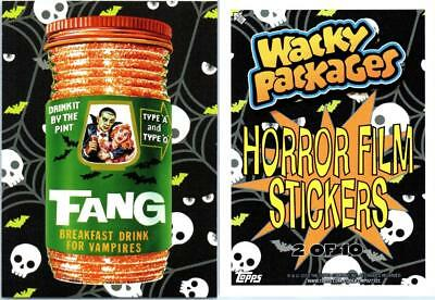 2018 Wacky Packages Go To The Movies Collector Ed Horror Film Sticker Fang