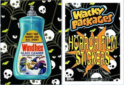 2018 Wacky Packages Go To The Movies Collector Ed Horror Film Sticker Windhex