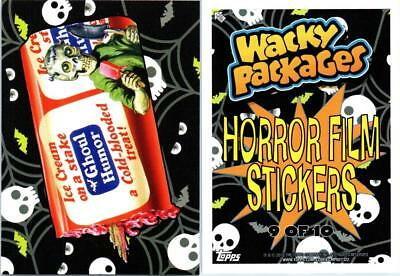 2018 Wacky Packages Go To The Movies Collector Ed Horror Film Sticker Ghoul Humo